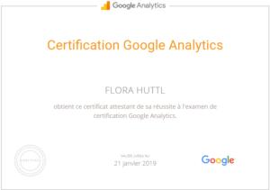Flora Huttl, Formateur certifié Google Analytics à Marseille
